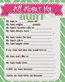 s day printable questionnaire 20586 s day questionnaire and free printables with images birthday gift aunts day