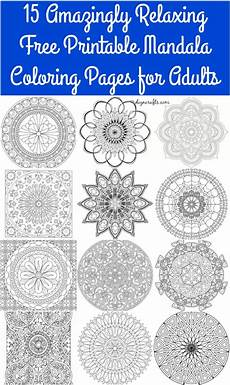 mandala coloring pages for adults free 17907 15 amazingly relaxing free printable mandala coloring pages for adults diy crafts