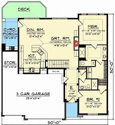 craftsman ranch house plans plan 89932ah 3 bed craftsman ranch with vaulted ceilings