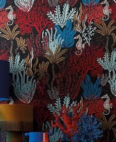 tapeten rot tapete aquata rot von casamance aus der kollektion orph 233 e