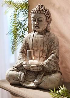 Deko Figur Buddha Mit Teelichthalter Buddha Deko Buddha