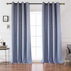 vorhang blau moderner vorhang blau kleinkariert aus polyester leinengewebe