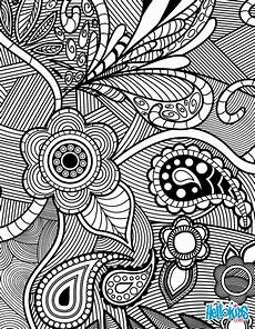 flowers paisley design coloring pages hellokids com