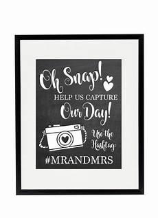 personalized oh snap wedding hashtag sign david s bridal