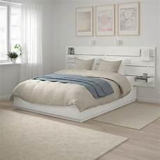tete de lit rangement nordli cadre de lit rangement t 234 te de lit blanc ikea