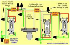4 way switch wiring diagram light in middle 4 way switch wiring diagrams do it yourself help com