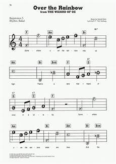over the rainbow piano sheet music onlinepianist