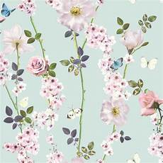 small flower wallpaper for wall dreamscape floral trail wallpaper blue wallpaper from i