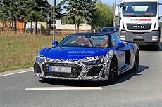 Audi R8 Facelift - 2019 audi r8 facelift spied in ara blue