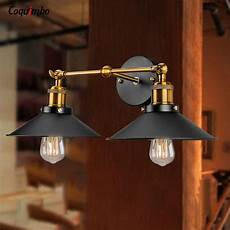vintage industrial loft metal wall l double heads retro wall lights brass led country style