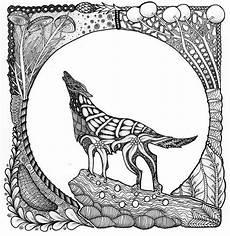 ausmalbilder f 252 r erwachsene wolf zum ausdrucken