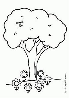 nature coloring worksheets 15105 nature tree with bird coloring page for printable free картинки венки