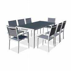table et chaise de jardin solde table de jardin en aluminium et verre 8 places vente de ensemble table et chaise conforama