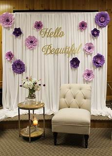 diy bridal shower backdrop bridal shower decor special event decor purple bridal