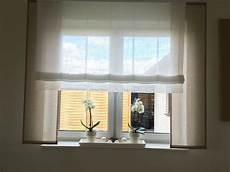 Taupe Mit Wei 223 Und Spitze Gardinen Store Gro 223 E Fenster Von