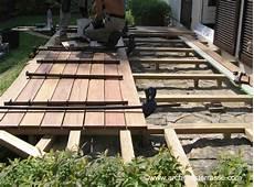 pose lambourde terrasse bois comment faire une terrasse bois classique au sol photos