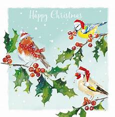 winter birds cards bransby horses