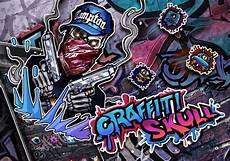 Gambar Grafiti Tengkorak Keren 3d Gambar Hitam Hd