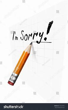 say sorry text message paper stock vector 135539792