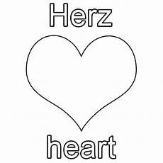 Herz Malvorlagen Zum Ausdrucken Spanisch Ausmalbild Englisch Lernen Herz Kostenlos Ausdrucken