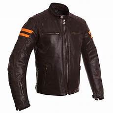 blouson segura retro marron orange blouson moto cuir