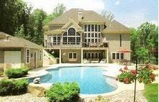 house plans with walkout basement and pool exceptional house plans with walkout basement and pool