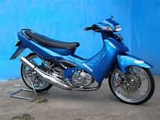 Satria Modif by Modif Suzuki Satria Blue Color Airbrush Motor Modif