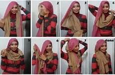 Cara Memakai Jilbab Segi Empat Modern Terbaru 2013