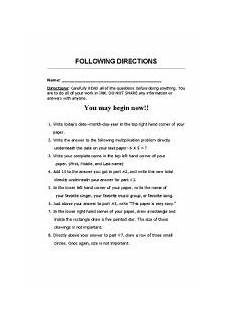 following directions worksheets grade 2 11694 worksheets following directions