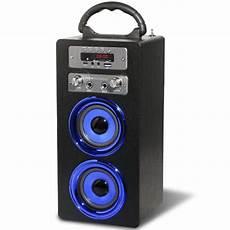enceinte bluetooth karaoke acoustics mcp 20 bluetooth karaoke speaker including mic black iwoot