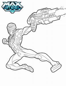 max steel coloring pages to print and color