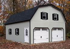 24x30 2 car garage with gambrel barn style roof built by horizon structures in west chester