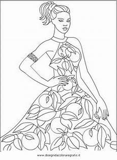 Ausmalbilder Topmodel A4 Disegno Moda 43 Categoria Persone Da Colorare