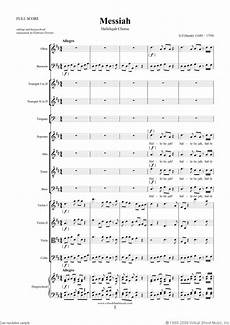 hallelujah chorus sheet music for choir and orchestra