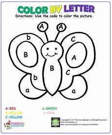 color by letter worksheet for