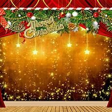 merry christmas photo backdrop aliexpress com buy merry christmas backdrops gold stars wooden floor green pine