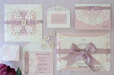 how to make arabesque dusky pink wedding stationery