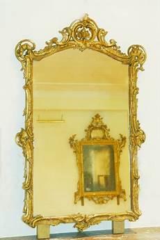 antiker spiegel gold vergoldeter spiegel louis xv altes spiegelglas oellers