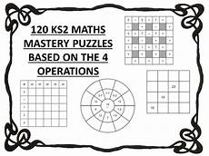 multiplication worksheets ks2 year 4 4463 120 ks2 maths mastery puzzles 4 operations teaching resources