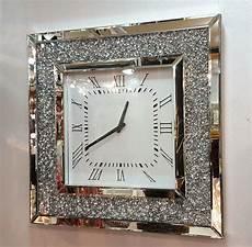 gatsby modern diamante mirror glass square wall