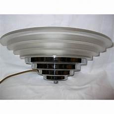 pair of stepped frosted glass chrome wall lights in the art deco taste deco dave