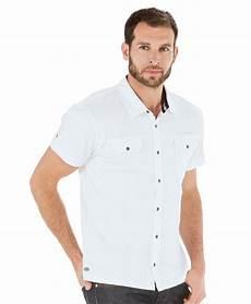 Chemise Manches Courtes Homme Blanc Optique Chemise Mode