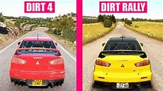 dirt 4 vs dirt rally cars sound comparison
