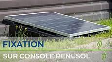 kit pose solaire poser des panneaux solaires au sol sur une console renusol
