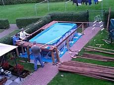 pool umrandung selber bauen pool podest selber bauen treppe selber bauen pool treppe