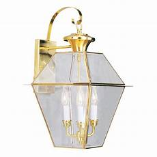 livex lighting westover 23 25 in h polished brass candelabra base e 12 outdoor wall light at