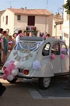 2cv vive les mari 233 s 2cv voiture mariage d 233 coration