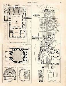 ancient roman house floor plan ancient rome map and floor plans roman forum by