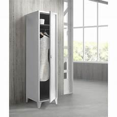 porte d entrée en metal college vestiaire 1 porte h180 cm en m 233 tal blanc achat