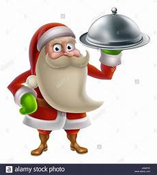 santa claus cooking dinner food with